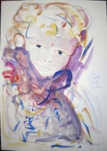 """Be quiet & sense"", watercolor, 40/ 30 cm, in Travers"