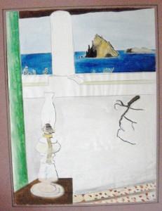 """""""Panarea"""", watercolor, 39/30,5 cm, in Italy"""