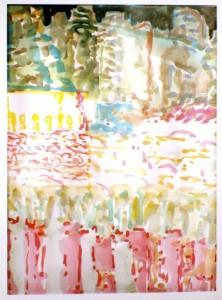"""""""Tepoztlan"""", watercolor, 31/24 cm, in Mexico"""