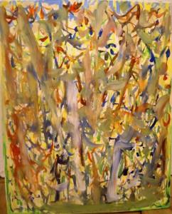 """""""sprouting life"""", acrylic/vanvas, 50/41 cm, in Cuernavaca"""