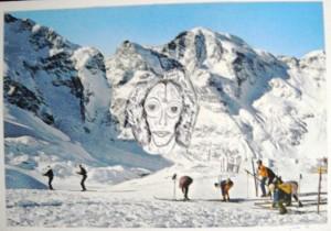 """""""the look"""", mixed technique, 30/22 cm, in Biel-Bienne"""